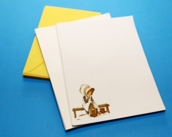 Holly Hobbie Stationery, 12 Printed Sheets with 24 Plain Sheets and 12 Envelopes