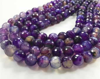 10mm Faceted Agate Beads, Gemstone Beads, Wholesale Beads