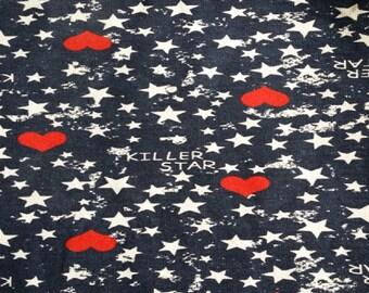Fabric sweat scratched star Killer star