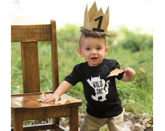 Wild one tshirt, where the wild things are, first birthday shirt