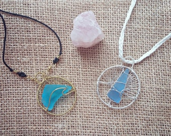 Surfs Up! Sea Glass Necklace
