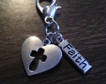 Heart cross with faith sign