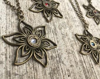 Bullet Flower Necklace