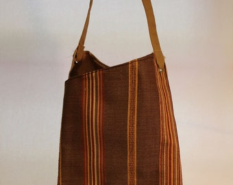 Large Fabric Bag With Stripes Item #B63