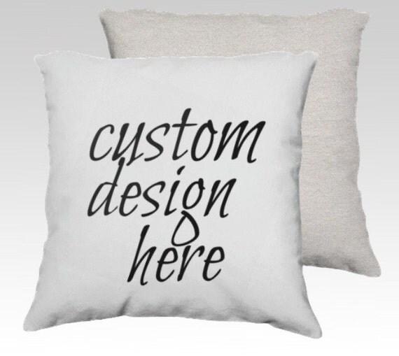custom design throw pillow 18X18 decorative throw pillow