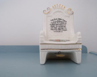 Crested Ware The Old Arm Chair Florentine China Ipswich