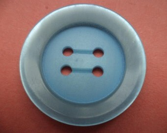 7 large BUTTONS light blue 25mm (1448) button Blue Coat buttons jacket buttons