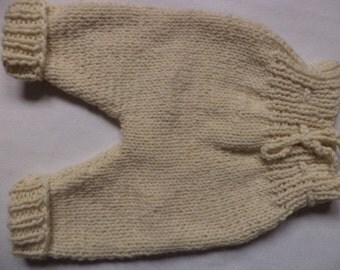 Baby pants 74/80 wool knitted pants baby pants