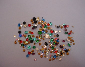 200+ Tiny to Medium Rhinestones