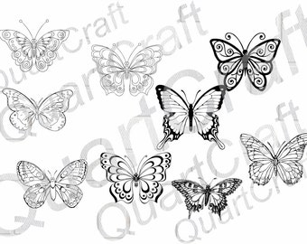 Butterfly SVG, Butterfly clipart, butterfly silhouette, svg files for silhouette, studio file, butterfly vector, cricut download, cut file