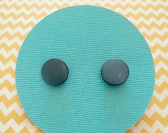 Midnight Blue Stud Earrings -  Surgical Steel