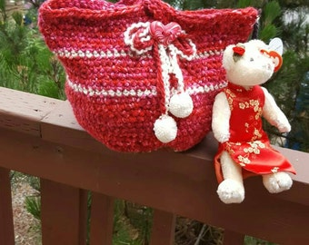 Crochet bucket bag/Giftbag