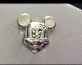 Vintage Sterling Silver Mickey Mouse Brooch Signed .925 Mexico TM-01