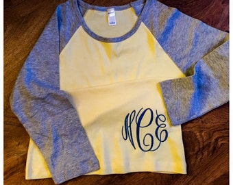 Women's Monogrammed Baseball Shirt