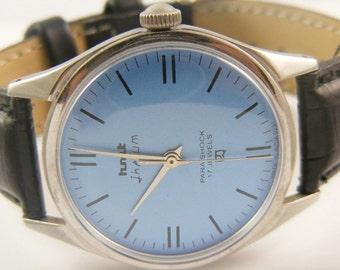 Genuine Vintage 1960's HMT Jhelum Men's Watch, Swiss Watch, 17 Jewels Mechanical Winding, Military Watch, Vintage Mens Watch, 17 Jewel Watch