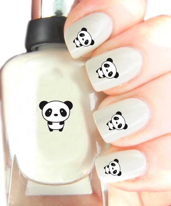 Panda Nail Art: Cute Panda Nail Art Decals Dispicable Me . By SimplyGiftIdeas