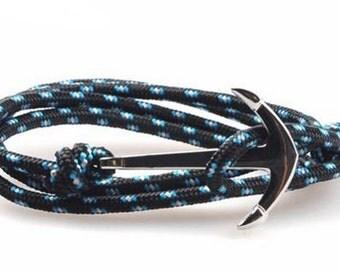 HANCLAR blue/black strap anchor silver