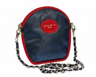 Sarah Li nylon Dress Blue pouch