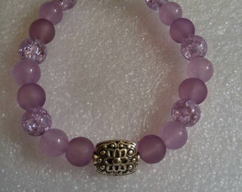 Plum Perfect Beaded Bracelet