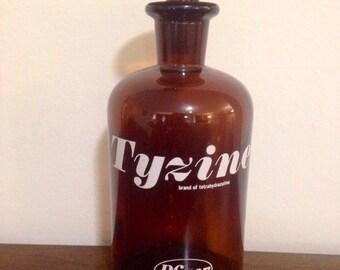 Vintage Tyzine Pfizer Apothecary bottle