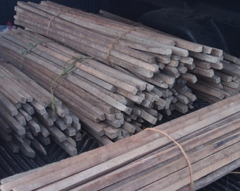 12  Sawn Primative Antique Tobacco Sticks/Rustic/Crafts**From the Hills of Tennessee