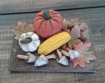 Miniature dolls house 1:12 scale autumn chopping board