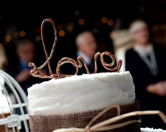 Love Wedding Cake topper rustic and elegant