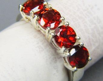 Multi Garnet Fine 925 Silver Ring - Garnet Ring