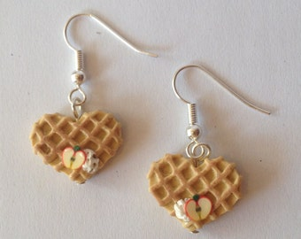 Earrings Waffle with Apple
