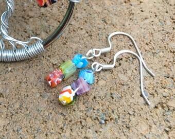 Custom made matching earrings