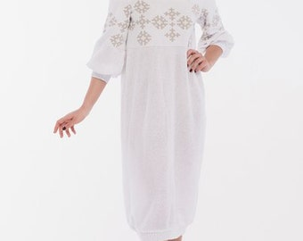 Cotton Dress-Women dress- White cotton