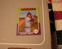1975 Topps George Brett Reprint Mini Rookie Card Real Nice Free Shipping US Shipping only