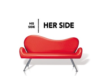 His side her side vinyl Wall Art sticker decal graphics decor home