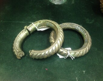 Antique Indian Tribal Gypsy Bangles/Anklets (pair)
