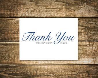 Thank You Cards, Leila Series - I Customize, You Print!