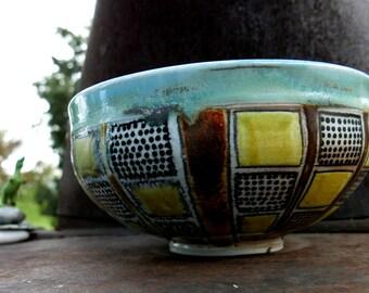 Soda fired porcelain bowl