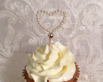 Wedding cupcake toppers - Set of 12