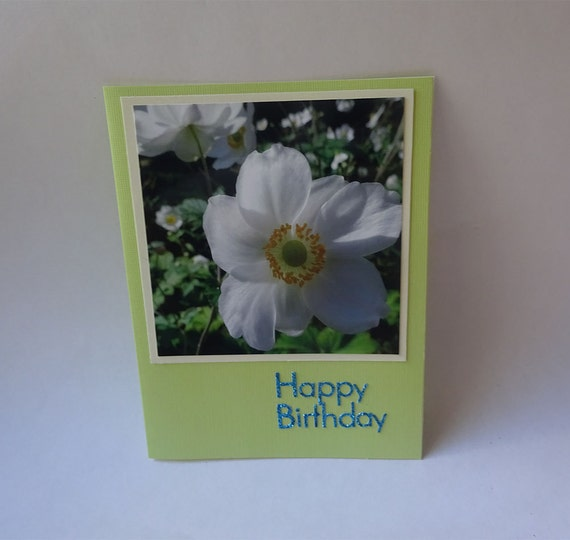 Birthday Card with Japanese Anemone Flower - #714