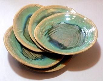 Sea-Tide plates,  Serving Platter, Handmade Stoneware Plates, Hostess Gift, Home Gift, Wabi Sabi Pottery, special gift
