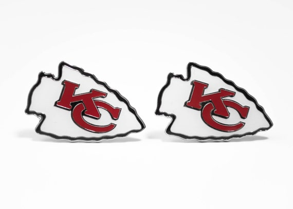 Kansas City Chiefs Cuff Links -- FREE SHIPPING with USPS First Class Domestic Mail