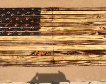 Flag burnt wood and rust