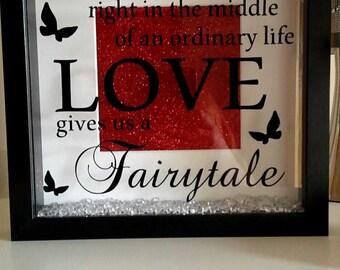 Love fairytale box frame