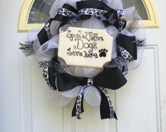 Spoiled Rotten Dogs Wreath