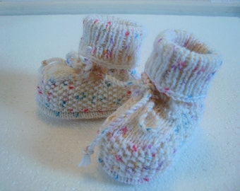 Baby shoes white confetti