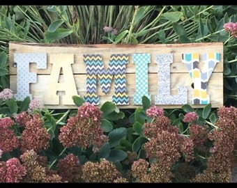 Hand Made Wood Family Sign