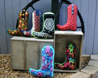 Cowboy boot pillows, country & western, country, decorative cushions