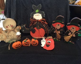 Vintage Halloween and Thanksgiving Home Decor Items