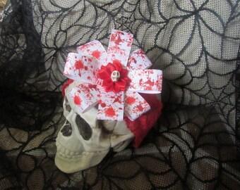 Baby girl headband, Halloween Headband, Horror Bow, Red Headband, Baby bow headband, Newborn Headband, Womens Headband, Horror womens, bows