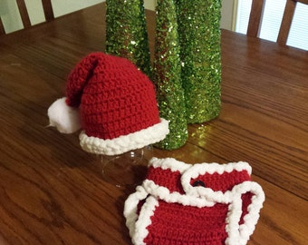 Crochet infant Santa Set