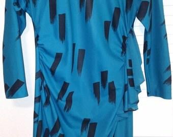 Vintage Teal  Midi Dress